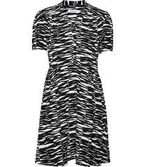short slv v-nk short dress kort klänning svart calvin klein