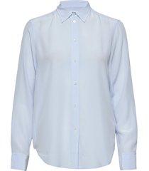 classic silk shirt overhemd met lange mouwen blauw filippa k
