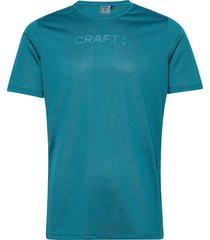 core essence ss mesh tee m t-shirts short-sleeved blå craft
