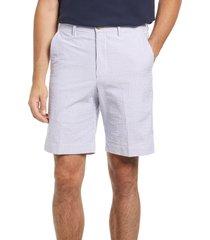 berle flat front seersucker shorts, size 35 in navy at nordstrom