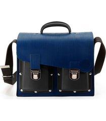 maleta veneta impermeable bicolor azul negro