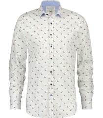 a fish named fred 20.01.008 shirt red pepers optical white - wit
