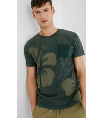 basic cotton t-shirt - green - xxl