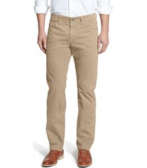men's big & tall ag graduate sud slim straight leg pants, size 36 x 36 - beige