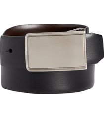 closeout! perry ellis men's rachel plaque belt