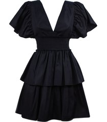 fausto puglisi black cotton dress