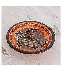 ceramic decorative bowl, 'ancient seafarer' (costa rica)