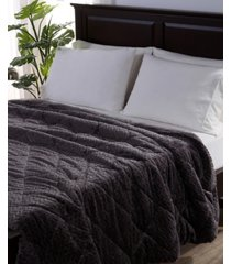 berkshire blanket & home co. large braid velvetloft king comforter bedding