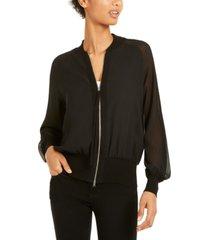 marella mesh-sleeve zippered jacket