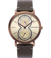 reloj mark maddox hc0012-17 hombre marrón