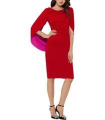 betsy & adam drape-back sheath dress