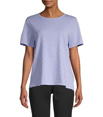 anne klein women's dotted knit pullover - high sky - size s