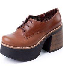 zapato nuria de cuero suela rosevelt shoes
