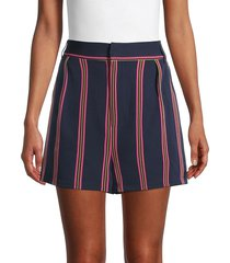 bb dakota women's end of the line stripe shorts - oil slick - size 2
