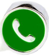 berloque lua pratas separador ícone whatsapp prata