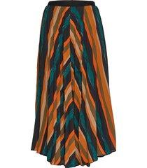 pzzenza skirt knälång kjol multi/mönstrad pulz jeans
