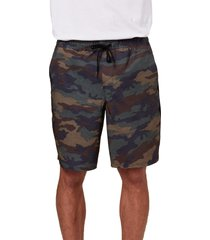 men's o'neill interval hybrid shorts, size x-large - green