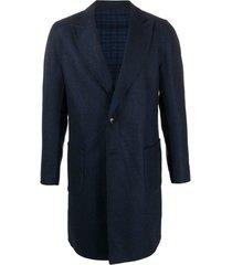 etro casaco chevron com abotoamento simples - azul