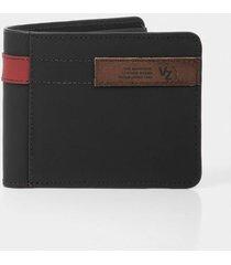 billetera de cuero contrastes
