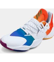 tenis basketball blanco-multicolor adidas performance harden vol 4