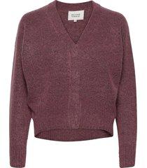 brook knit boxy cardigan stickad tröja cardigan lila second female