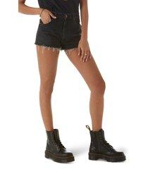 women's wrangler festival cutoff denim shorts, size 31 - black