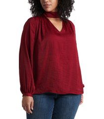 1.state trendy plus size choker top