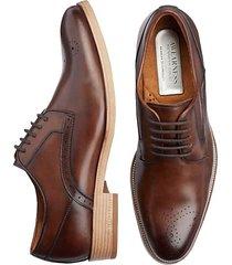 awearness kenneth cole men's cognac medallion toe dress shoes - size: 8 d-width