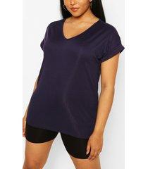 plus basic rib oversized t-shirt, navy