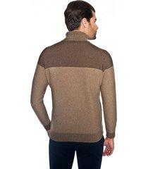 sweter telford golf brąz