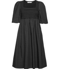 cristingz dress jurk knielengte zwart gestuz