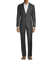 classic-fit milburn iim series plaid wool suit