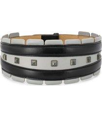 alaïa pre-owned 1990s studded wide belt - black