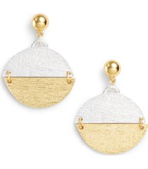 karine sultan pendant drop earrings in gold/silver mix at nordstrom