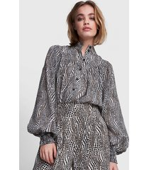 alix the label 2108958106 woven dots animal blouse