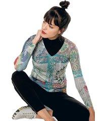 camiseta manga larga multicolor desigual