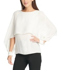 dkny cape-style top