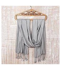 silk shawl 'silver nights' (india)