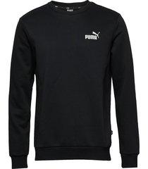 ess logo crew sweat fl sweat-shirt tröja svart puma