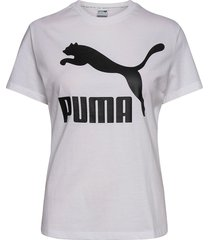 classics logo tee t-shirts & tops short-sleeved vit puma