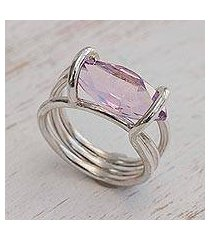 amethyst cocktail ring, 'purple majesty' (brazil)