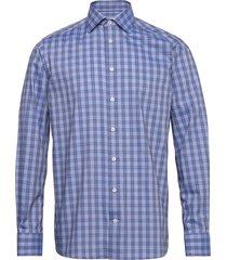 blue twill shirt overhemd casual blauw eton