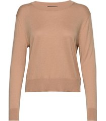 silk-cotton cropped sweater gebreide trui beige banana republic