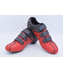 zapatillas para ciclismo de ruta smart ss ss0004r roja