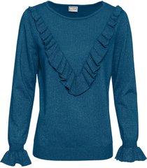 maglione con fili lucidi (petrolio) - bodyflirt