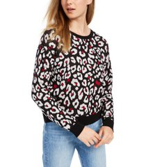 bcx juniors' animal-print sweater