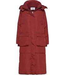 day new justine parka lange jas jas rood day birger et mikkelsen