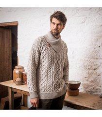 the errigle shawl sweater beige xxl