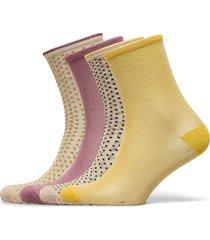 mix sock pack w.20 lingerie socks regular socks rosa becksöndergaard
