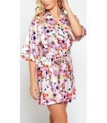 icollection ella floral print satin robe